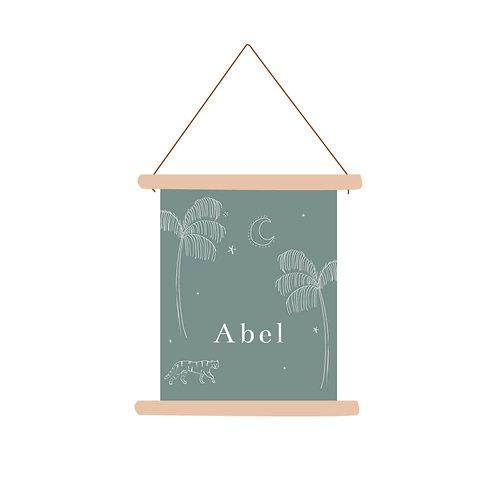 Textielposter Abel