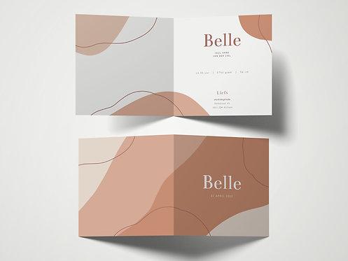 Geboortekaartje Belle