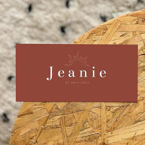 Geboortekaartje Jeanie