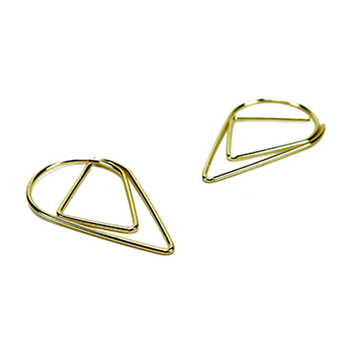 Paperclips goud druppel