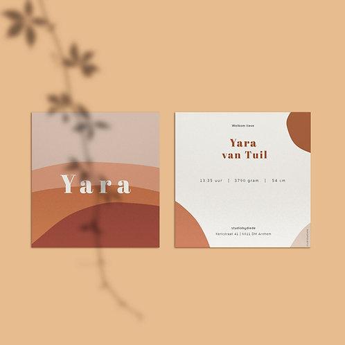 Geboortekaartje Yara
