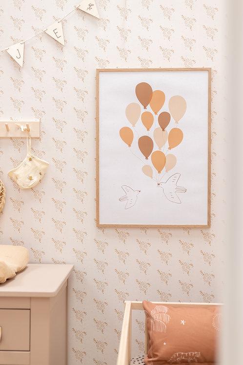 Poster balloon birds 50 x 70 cm