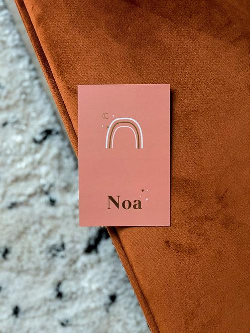 Geboortekaartje Noa rust