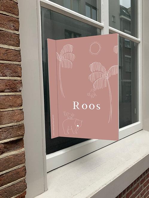 Geboortebord Roos