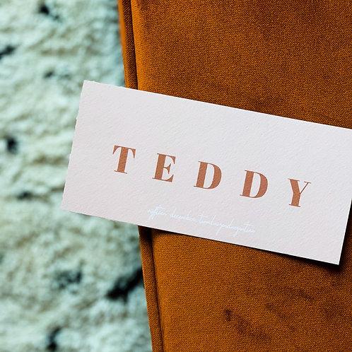 Geboortekaartje Teddy blush