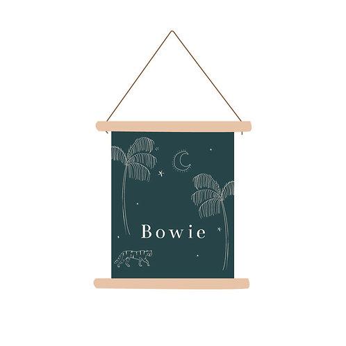 Textielposter Bowie