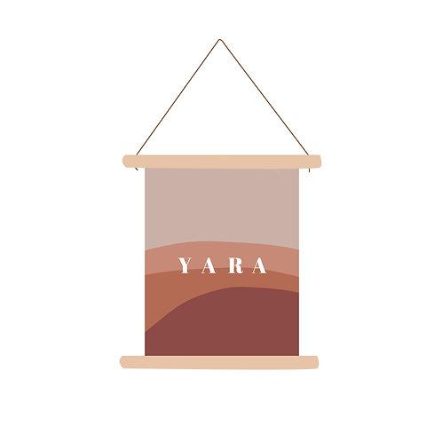 Textielposter Yara