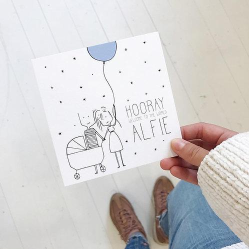Geboortekaartje Alfie