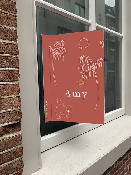 Geboortebord Amy