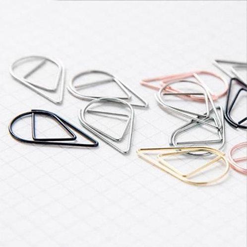 Paperclips zilver druppel