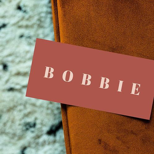 Geboortekaartje Bobbie chestnut