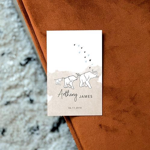 Geboortekaartje Anthony James