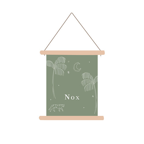 Textielposter illustratie green
