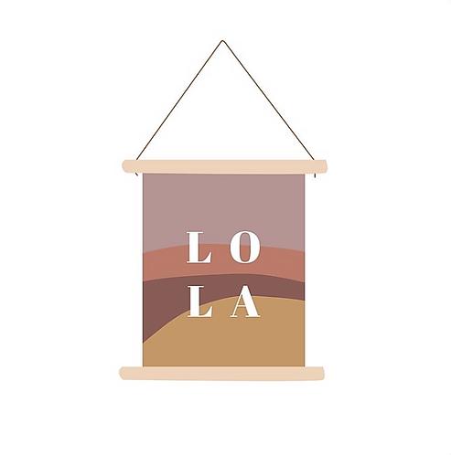 Textielposter Lola
