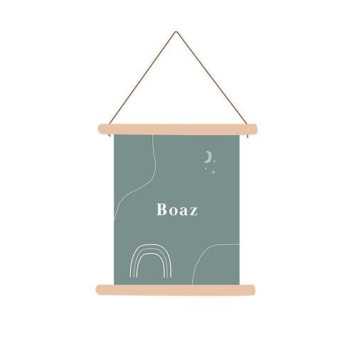 Textielposter Boaz