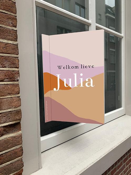 Geboortebord Julia