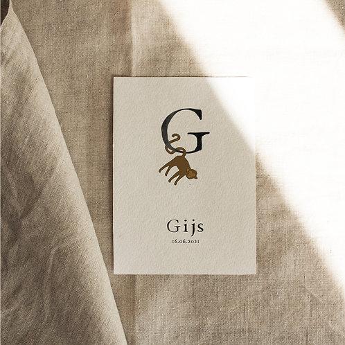 Geboortekaartje G