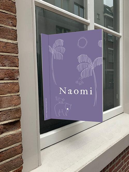 Geboortebord Naomi