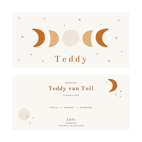 Geboortekaartje Teddy