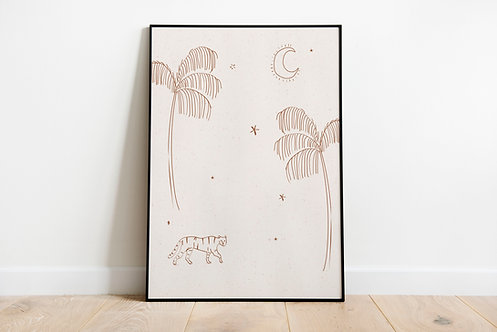 Poster tiger 50 x 70 cm