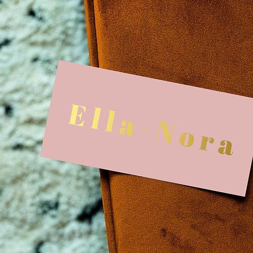 Geboortekaartje Ella-Nora