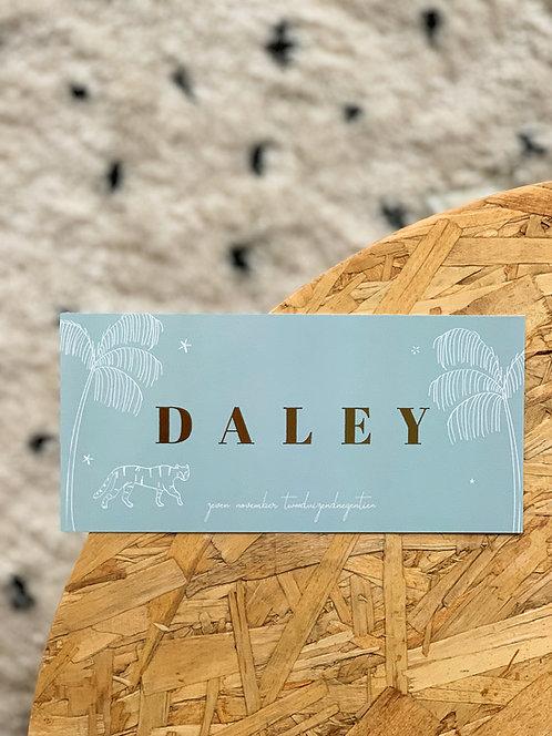 Geboortekaartje Daley