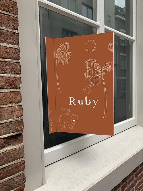 Geboortebord Ruby