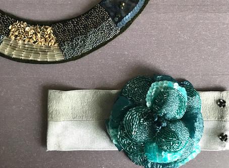 刺繍素材▫️チューブビーズ エメラルド