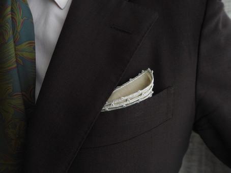 ポケットチーフ新作