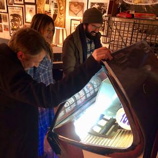 Jukebox at Art Gallery