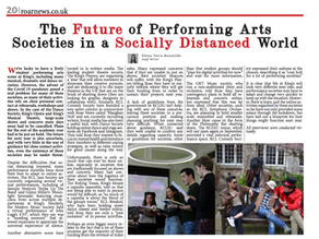 Jazz Society Features In Roar Newspaper