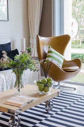 Living room design, interior decorating