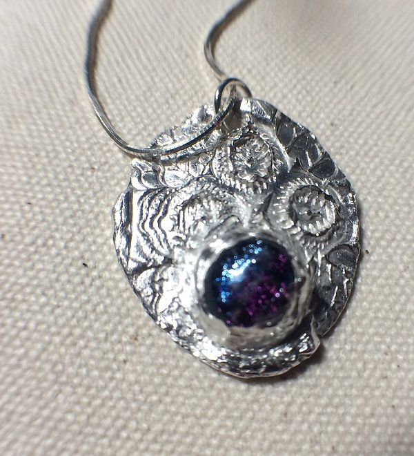 pure silver necklace pendant with CZ $70