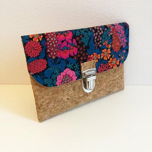Pochette Paper - Liberty Ciara Bleu pétrole