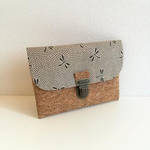 Pochette Paper - Coton japonais Libellules beige