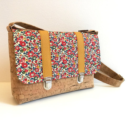 Sac Licuala - Liberty Betsy Ann rouge et moutarde