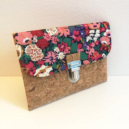 Pochette Paper - Liberty japonais Thorpe framboise