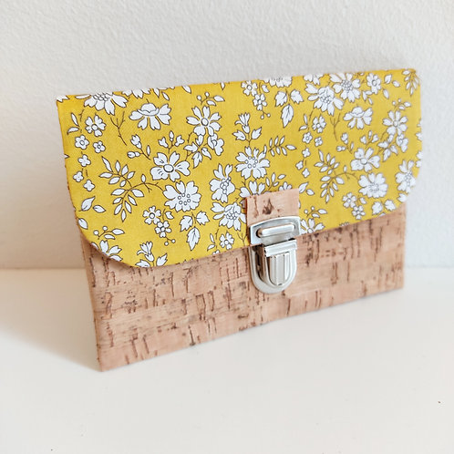 Pochette Paper - Coton Liberty Capel Bio GOTS - Jaune safran