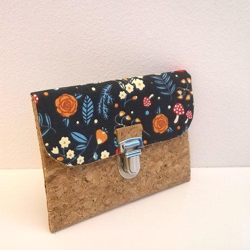 Pochette Paper - Coton fleurs & champignons