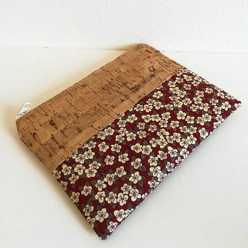 Pochette Mix Plate - Liberty Ffion bordeaux
