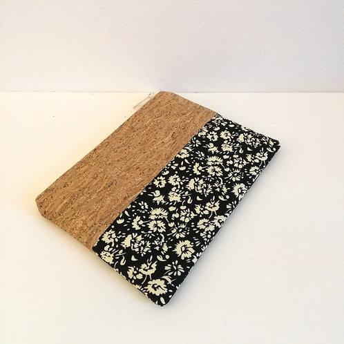Pochette Mix Plate - Coton noir fleuri