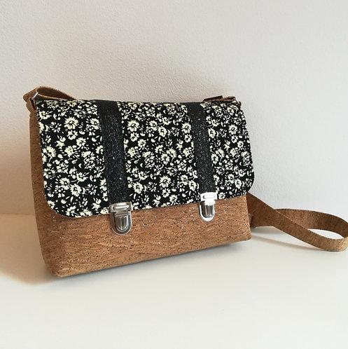 Sac Licuala - Coton noir fleuri