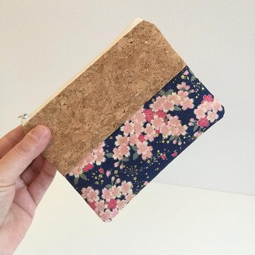 Pochette Mix Plate - Coton japonais Sakura rose et bleu