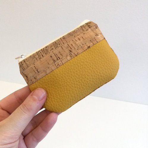 Pochette Pop - Simili jaune moutarde