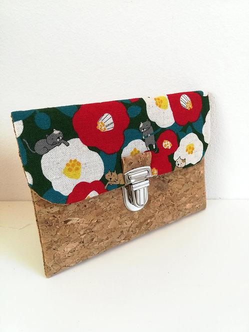 Pochette Paper - Coton japonais fleurs et chats