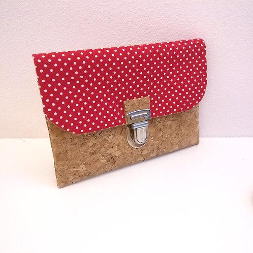 Pochette Paper - Coton rouge pois