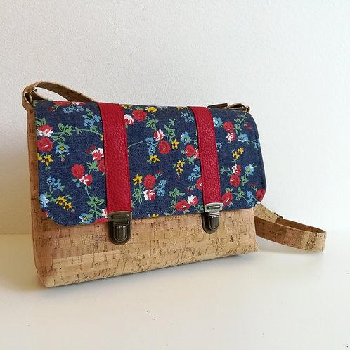 Sac Licuala - Coton jean fleuri