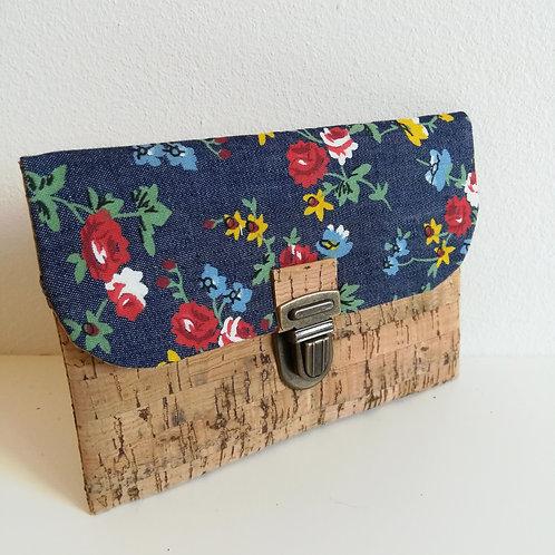 Pochette Paper - Coton jean fleuri