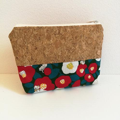 Pochette Mix - Coton japonais fleurs et chats
