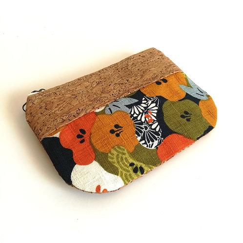 Pochette Pop - Coton japonais fleurs de prunier - vert kaki
